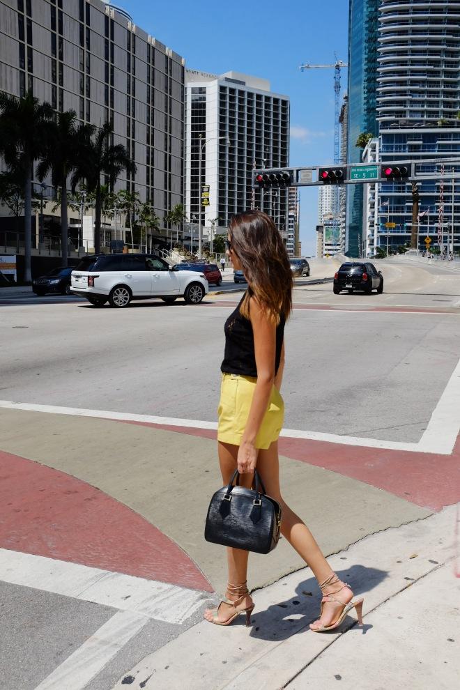 crossing the road miami