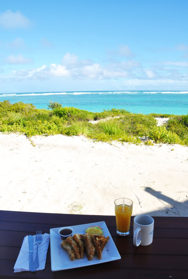 Breakfast at anegada beach club luxury tents