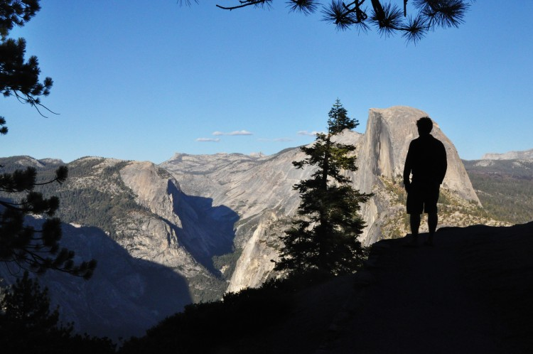 silhouette in front of el capitan yosemite