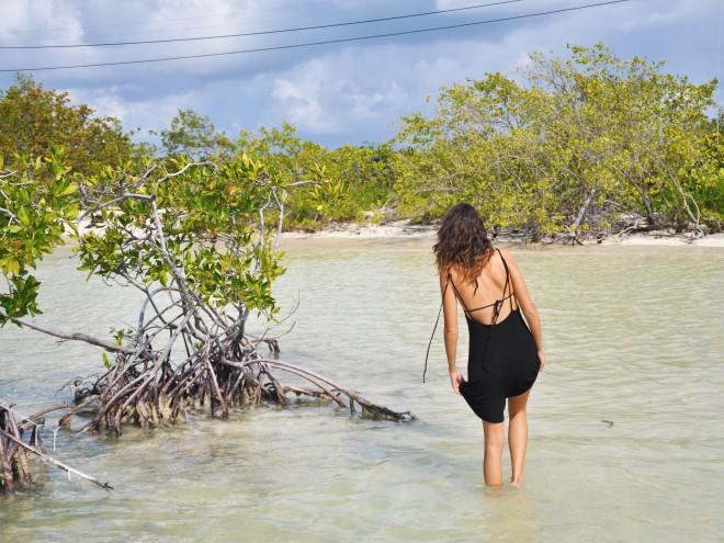 girl in anegada mangrove