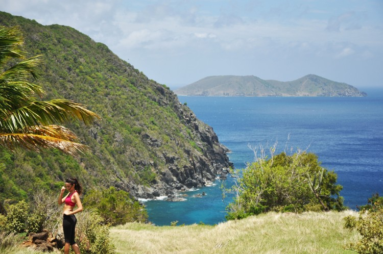 girl hiking in jost van dyke in bvi
