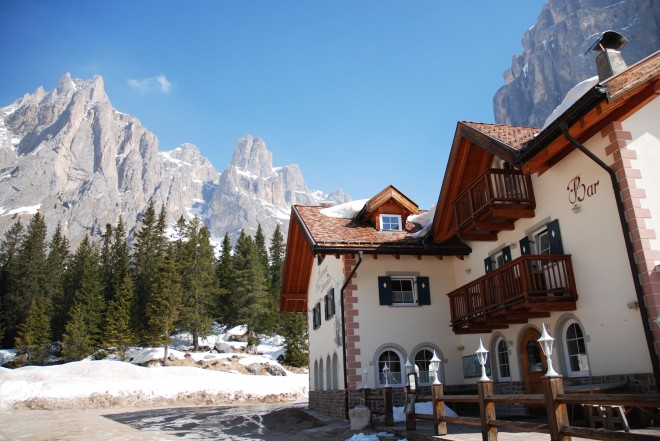 Traditional restaurant in the Dolomites