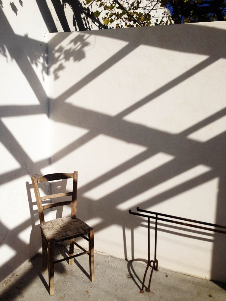 Light and Shadow on the patio with chair