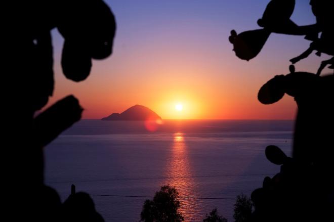 Sunset in Lipari