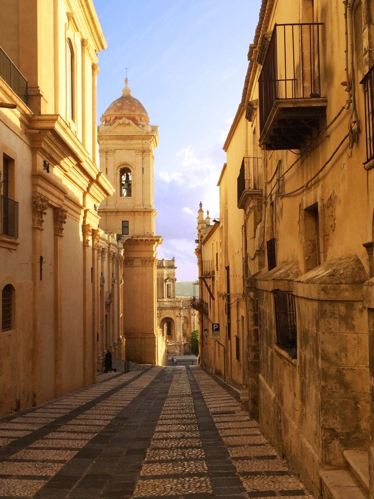 Noto at sunset