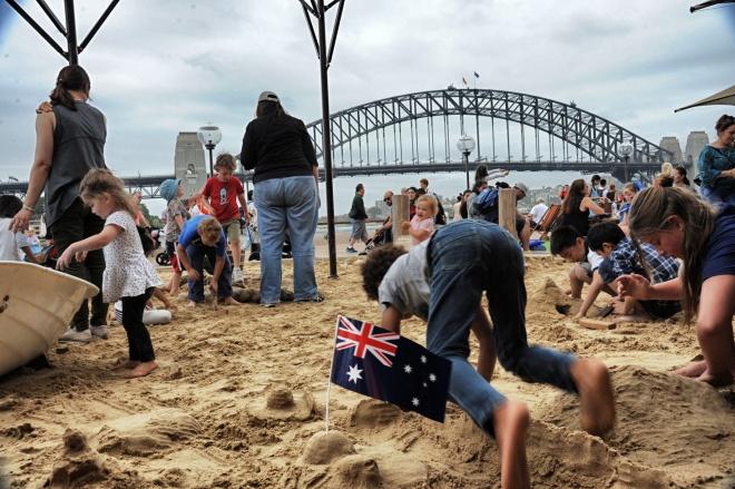 Sydney Harbour bridge on Australia Day