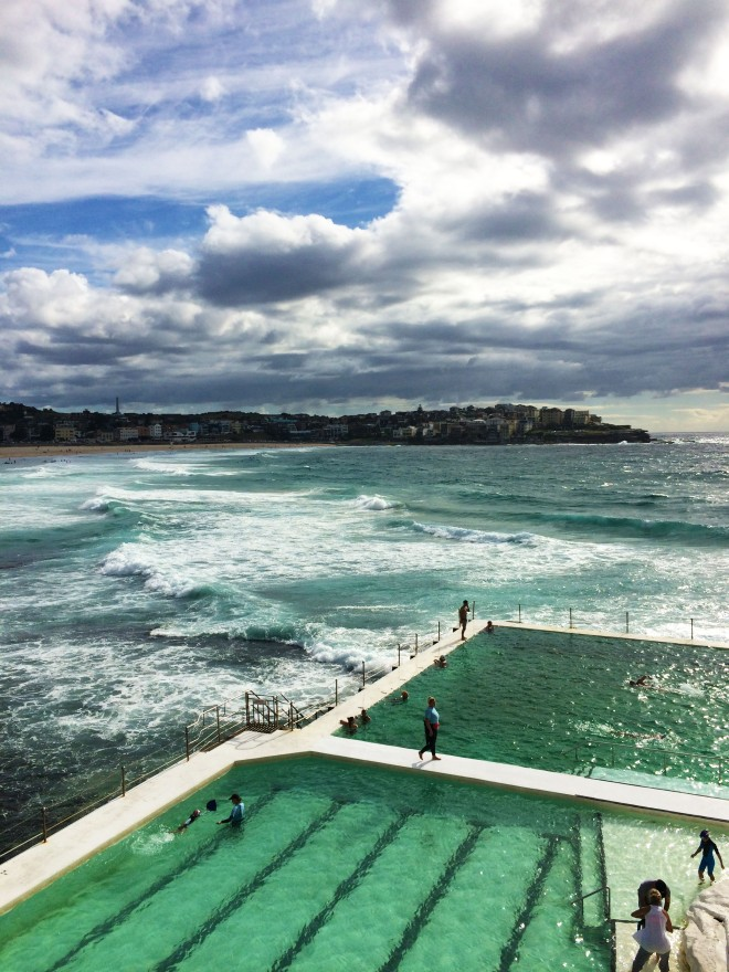 Swimming pool on Bondi beach