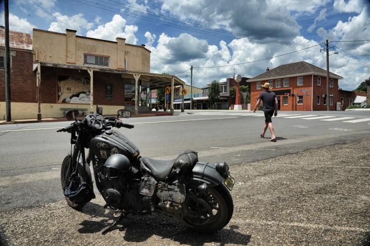Australian man in old Australian town