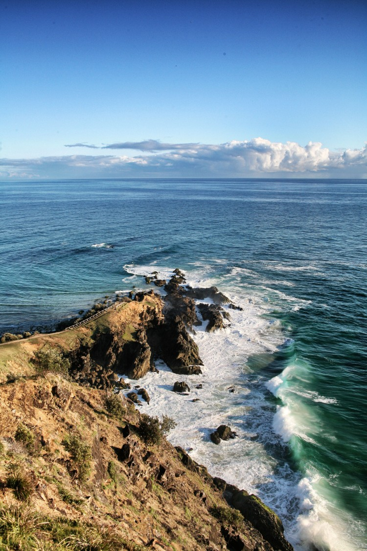 Ocean and cliff view on Australia's most Easterly point