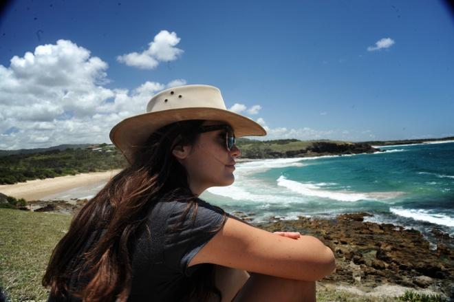 Australian girl with hat