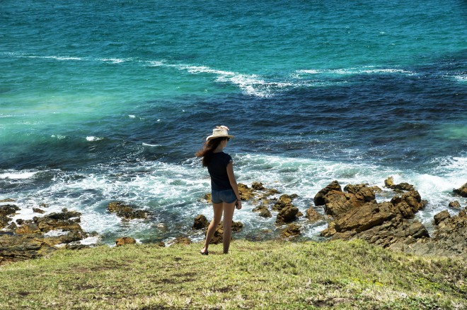 Girl with ocean view
