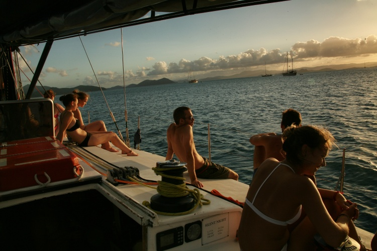 people sailing in the Whitsunday Islands