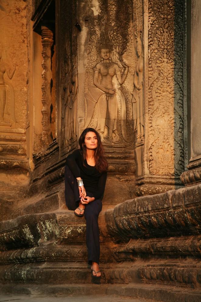girl at Angkor Wat