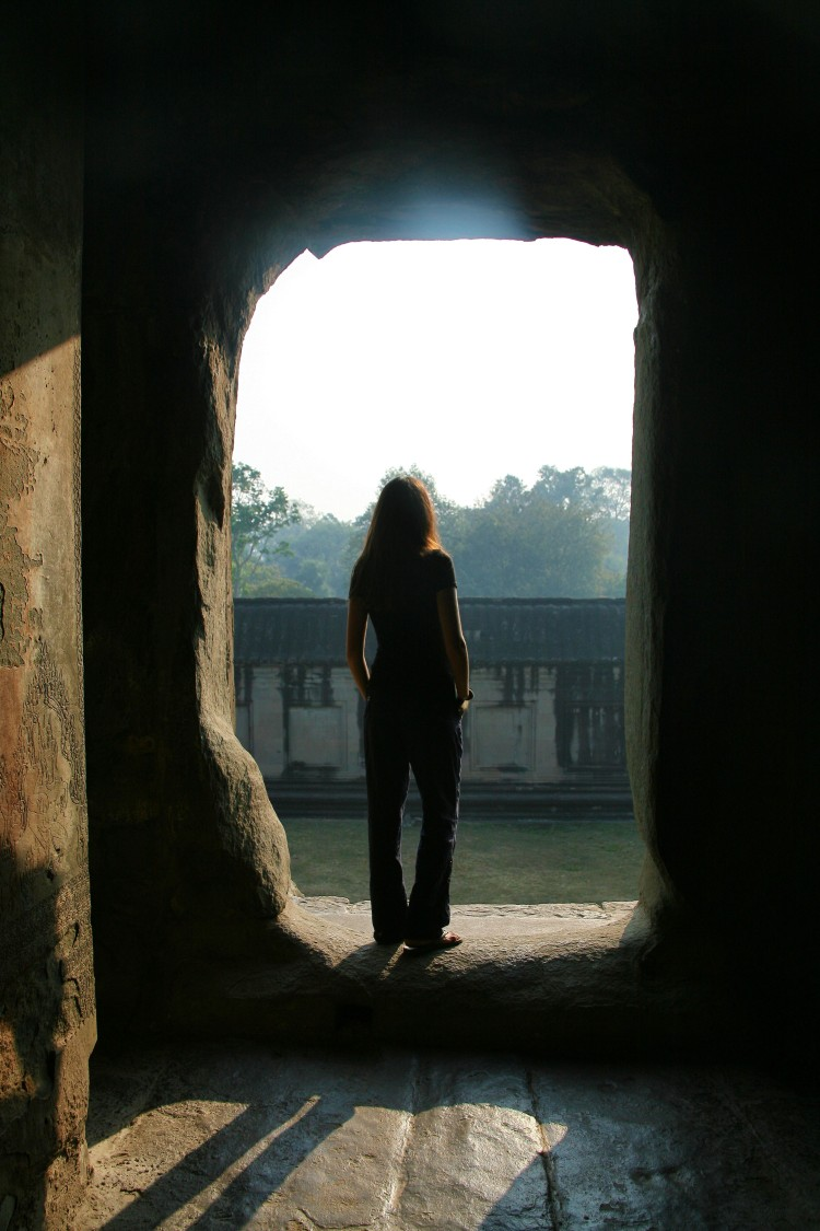 girl at Angkor Wat
